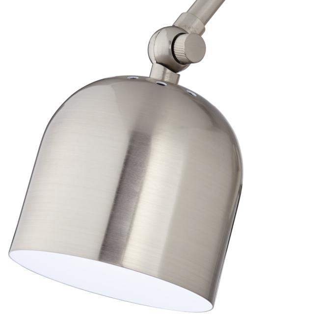 Byers Brushed Nickel Angled Arm Pin-Up LED Wall Lamp