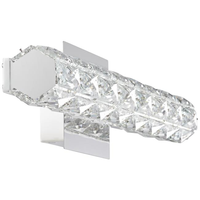 "Evie 24"" Wide Chrome and Crystal LED Bath Bar Light"
