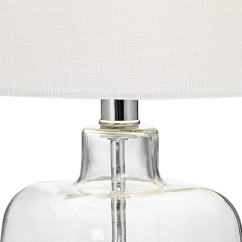 "Square Glass 21 3/4"" High Fillable Table Lamp more views"
