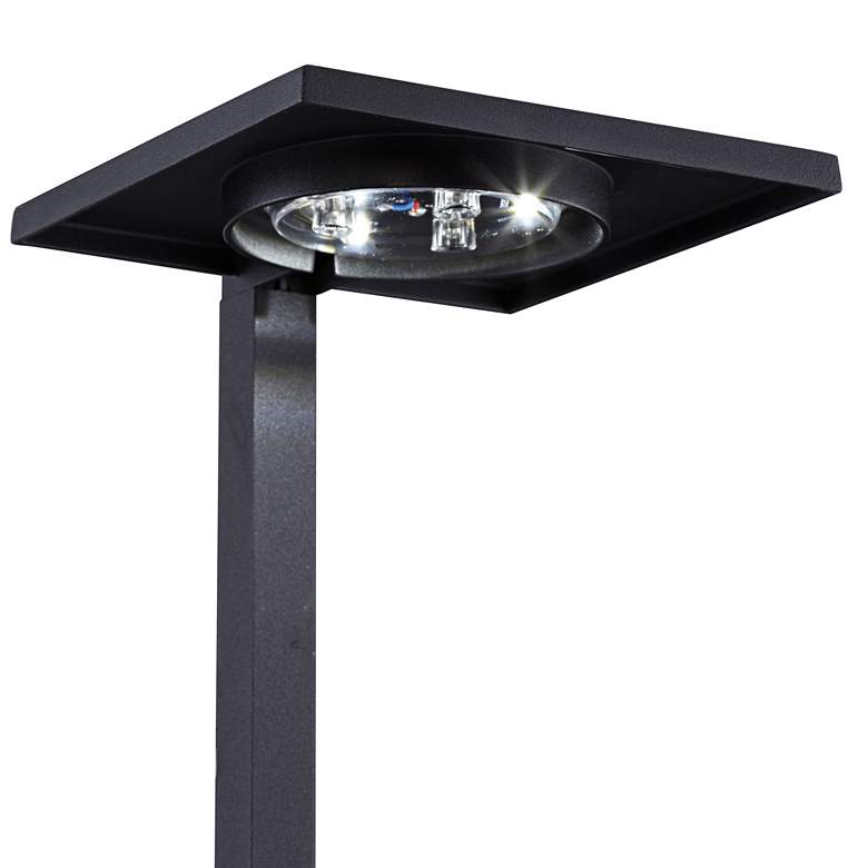 "Kichler 6"" Wide 3000K LED Shallow Shade Black Path Light more views"