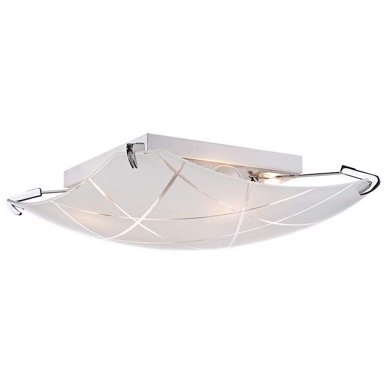 "Lattice 16 1/2"" Wide Contemporary Chrome Ceiling Light more views"
