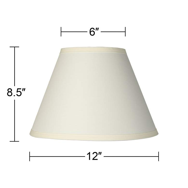 Ivory Table Lamp Clip Shade 6x12x8.5 (Clip-On) more views