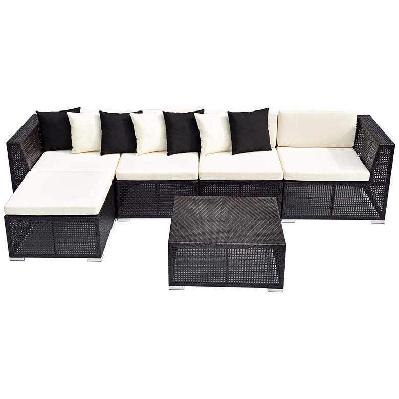 6-Piece Modular Outdoor Sectional Sofa Set more views
