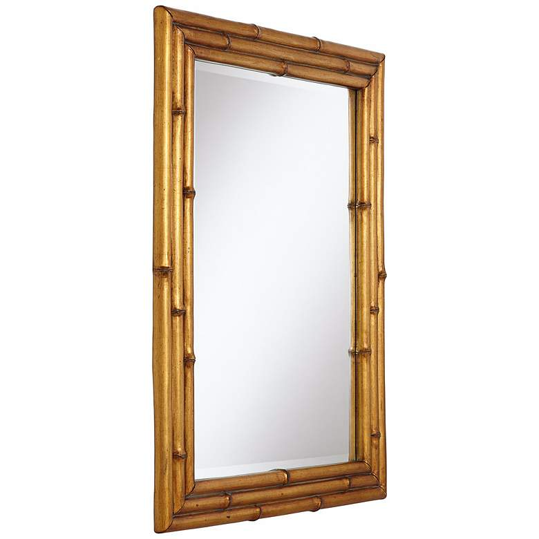 "Bamboo Golden 24"" x 32"" Wall Mirror more views"