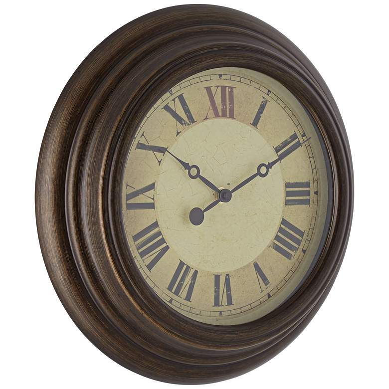 "Dixon 13"" Round Metal Wall Clock more views"
