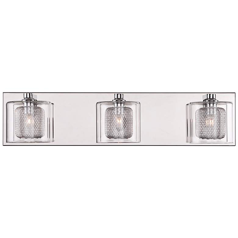 "Possini Euro Design Zatara 20 1/2"" Wide Chrome Bath Light more views"
