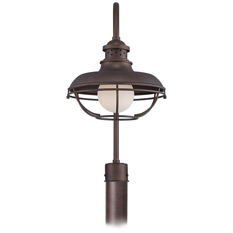 "Franklin Park 23 1/2"" High Bronze Cage Outdoor Post Light more views"