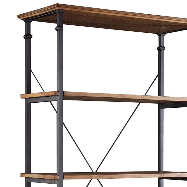 "Wagner 72"" High Natural Pine Wide Bookshelf more views"