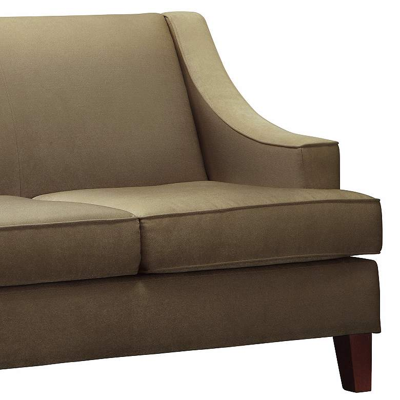 HomeBelle Madeon Taupe Loveseat more views