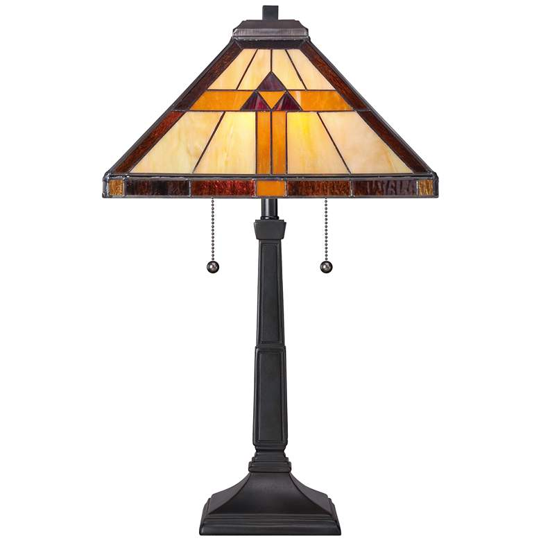 Quoizel Bryant Tiffany Style Architectural Table Lamp more views