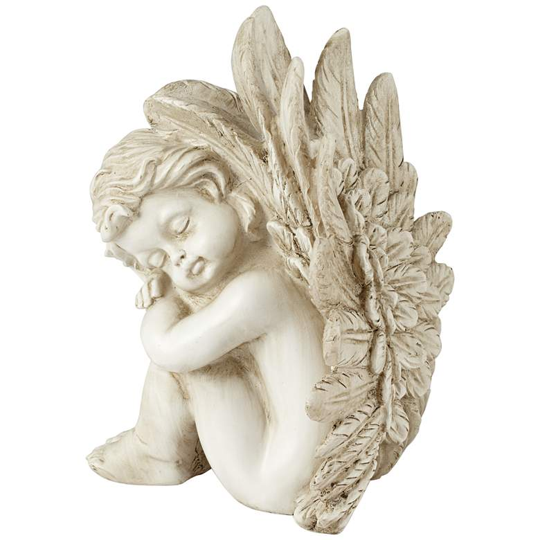 "Sleeping Angel Facing Right 9 1/2"" High Figurine more views"