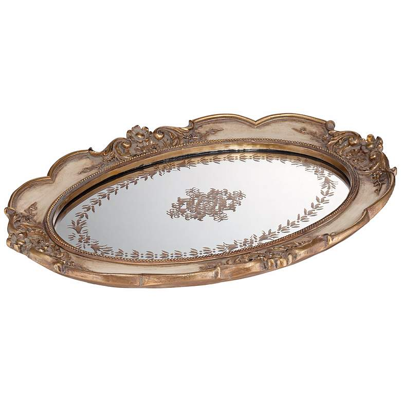 Iberia Gold Mirrored Decorative Tray more views