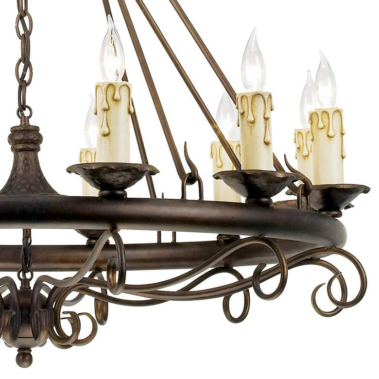 Rodeo Collection Round Twelve Light Chandelier more views