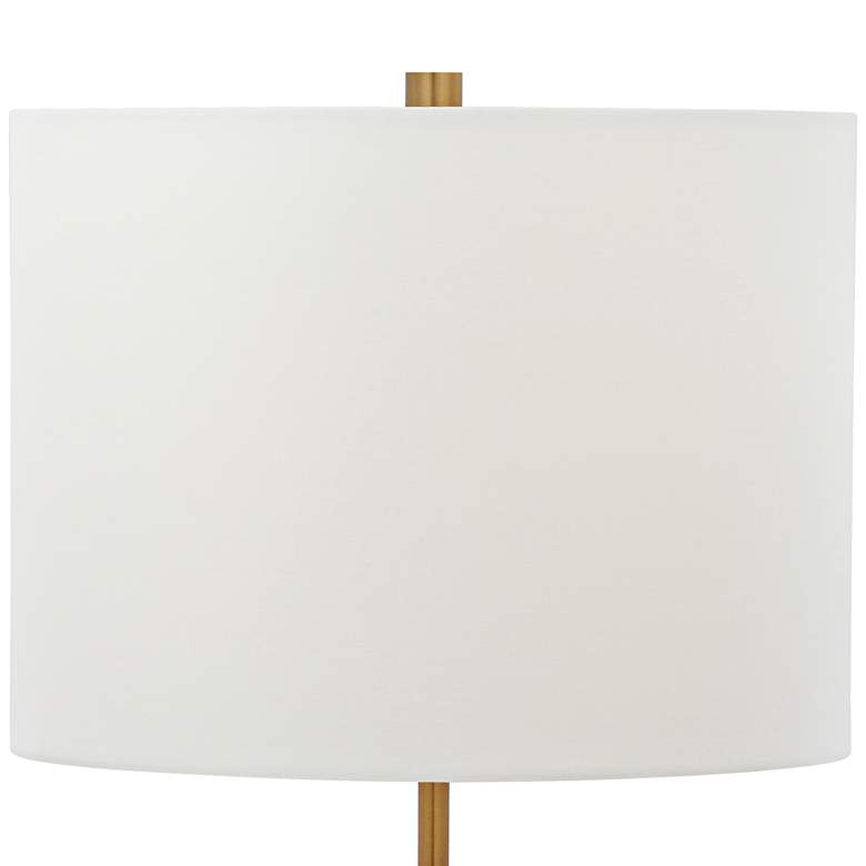 Meera Polished Brass and White Marble Adjustable Table Lamp more views