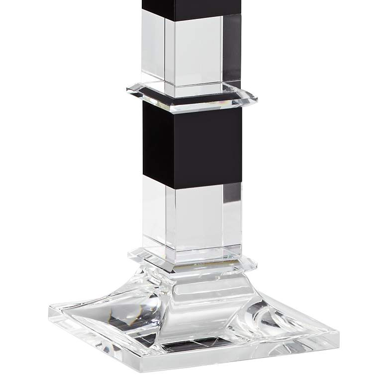Crystal Black Taper Candle Holder more views