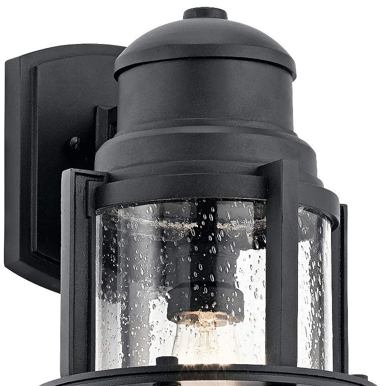 "Kichler Suri 17 1/2"" High Textured Black Outdoor Wall Light more views"