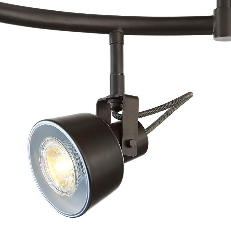 Pro Track 6-Light Bronze LED Track Fixture more views