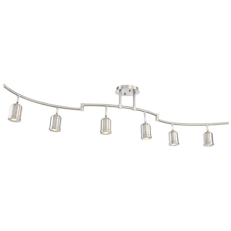 Pro Track Rhodes 6-Light Brushed Nickel Track Fixture more views