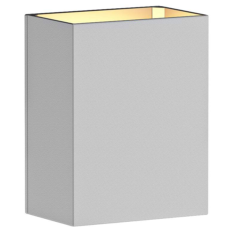 "Sonneman Box 4 1/2""H Textured White LED Outdoor Wall Light more views"