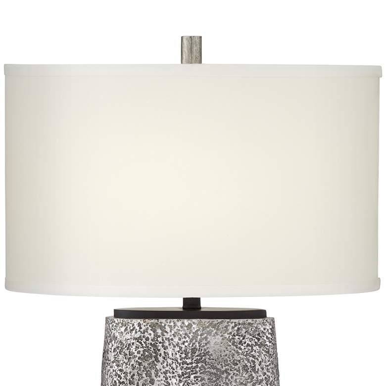 Kathy Ireland Palo Alto Aged Pewter Table Lamp more views