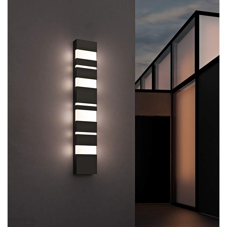 "Jazz Notes 36"" High Textured Bronze LED Outdoor Wall Light more views"