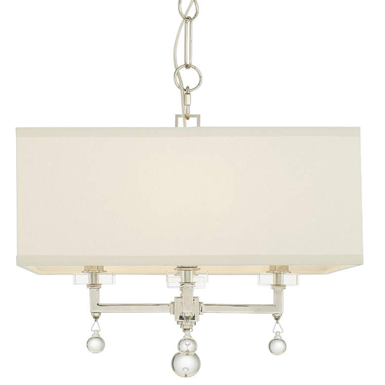 "Crystorama Paxton 16""W Polished Nickel 4-Light Chandelier more views"