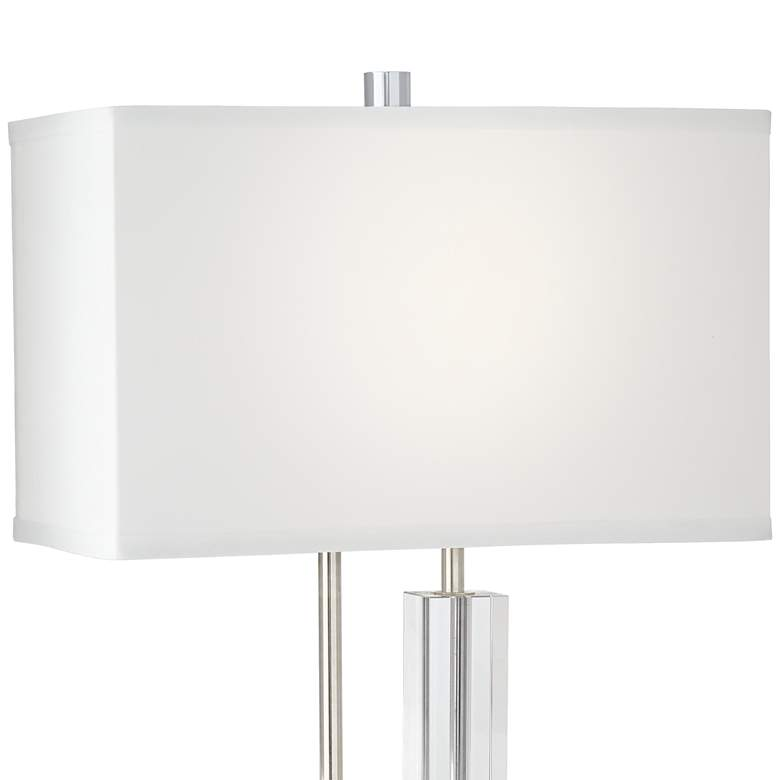 Aurora Crystal and Polished Nickel Table Lamp more views