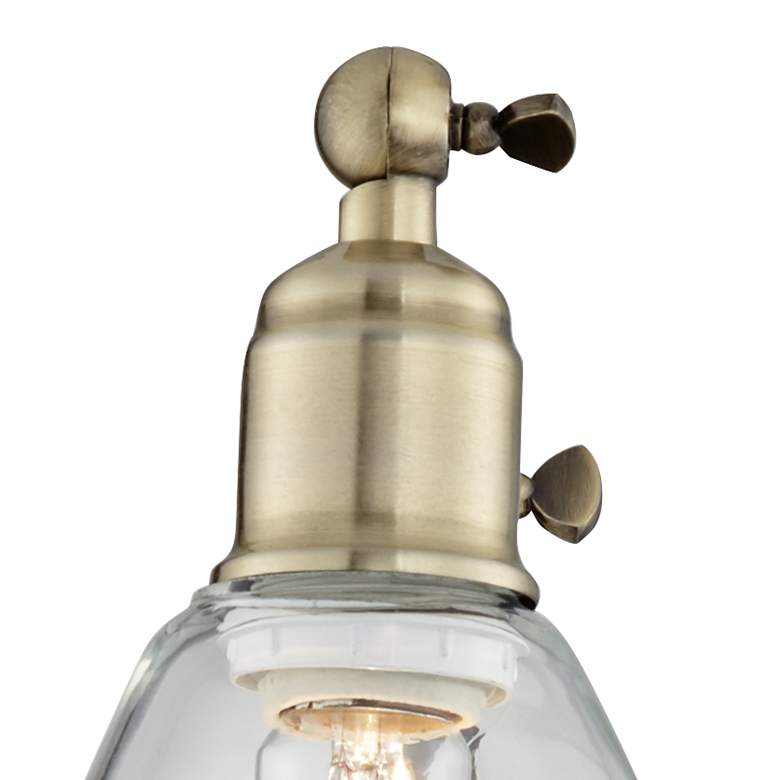 Wray Black and Brass Glass Shade Plug-In Wall Lamp Set of 2 more views