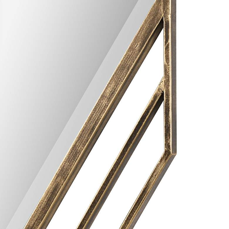 "Uttermost Javon Golden Bronze 20"" x 60"" Wall Mirror more views"
