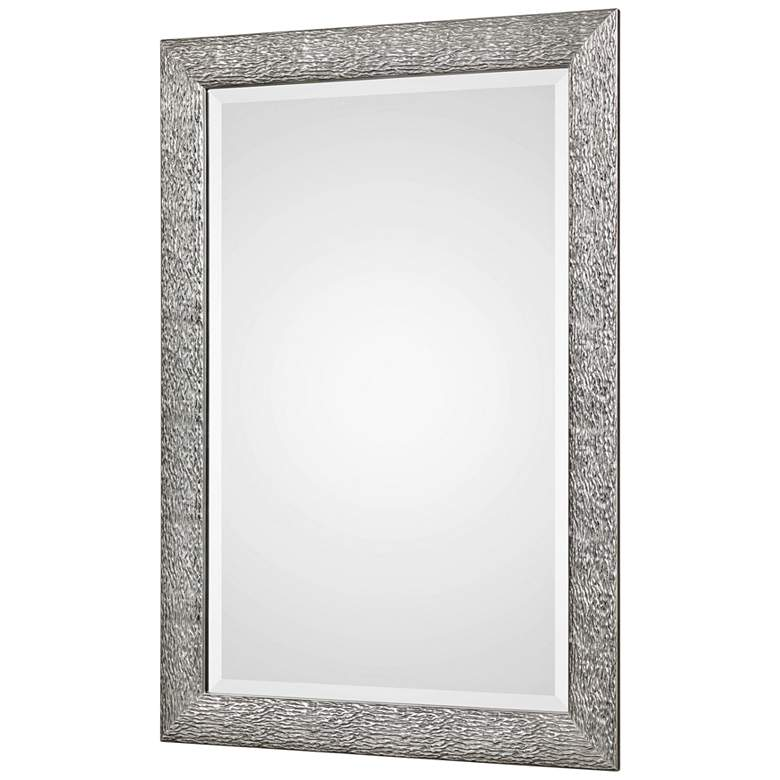 "Mossley Metallic Silver 30"" x 42"" Framed Wall Mirror more views"