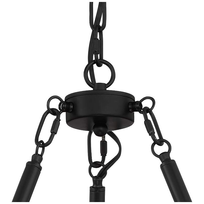 "Daniel 24 1/2"" Wide Matte Black 6-Light Chandelier more views"
