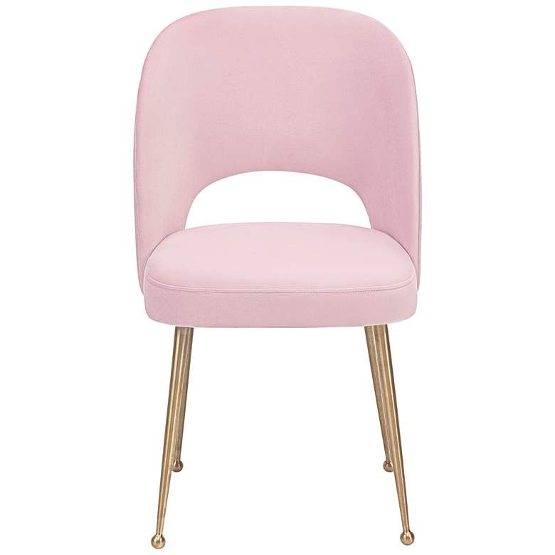 Swell Blush Velvet Dining Chair more views