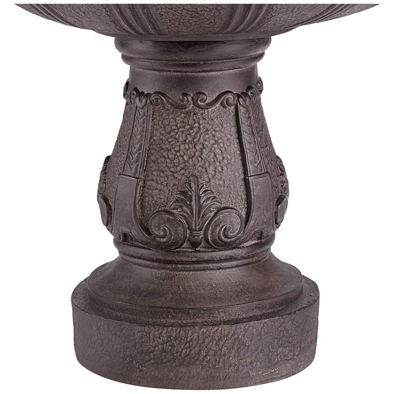 "Peta 41"" High Aged Bronze Three-Tier Indoor/Outdoor Fountain more views"