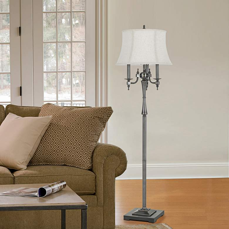 Madison Antiqued Silver 6-Way Floor Lamp more views