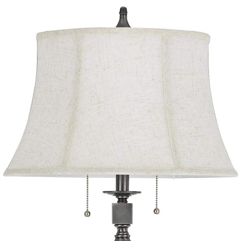 Madison Antiqued Silver Two-Light Floor Lamp more views