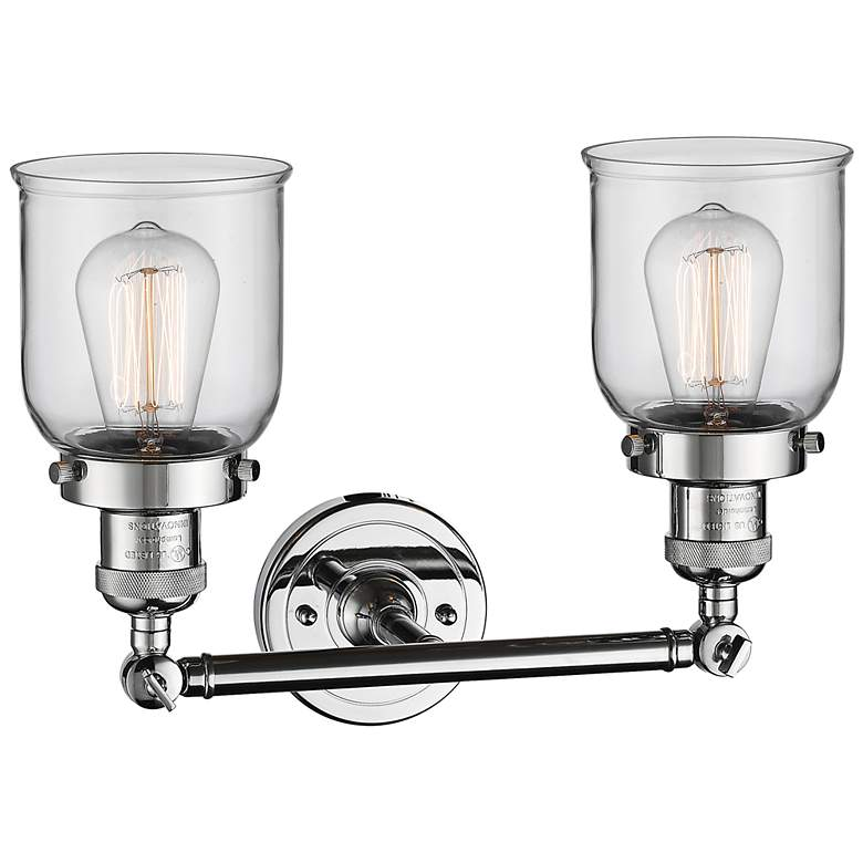 "Small Bell 10"" High Chrome 2-Light Adjustable Wall Sconce more views"