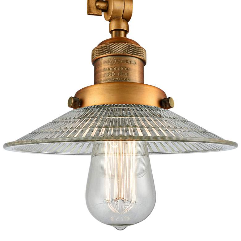 "Halophane 8 1/2"" Wide Brushed Brass Adjustable Ceiling Light more views"