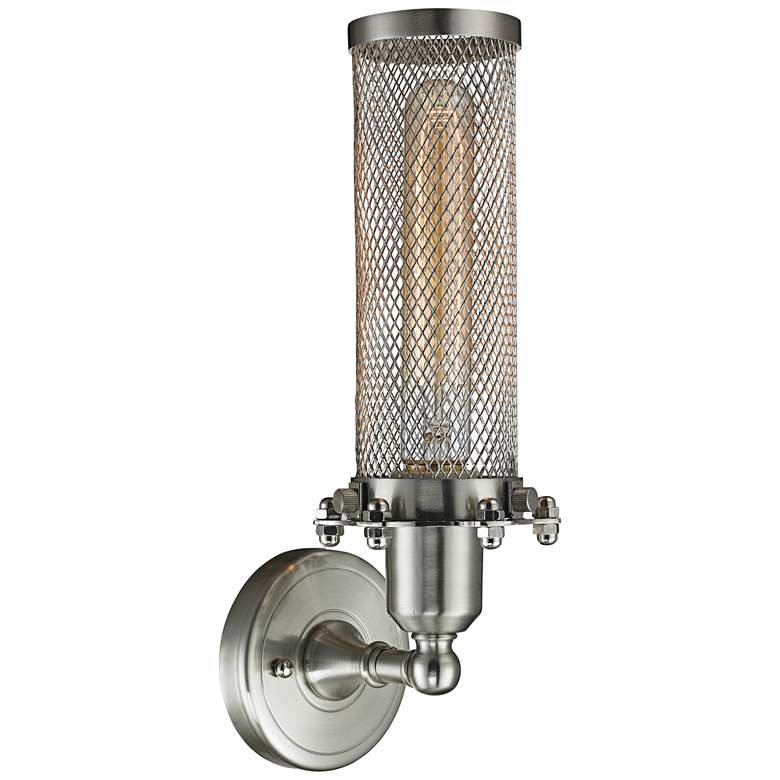 "Quincy Hall 12"" High Satin Brushed Nickel T Wall Sconce more views"