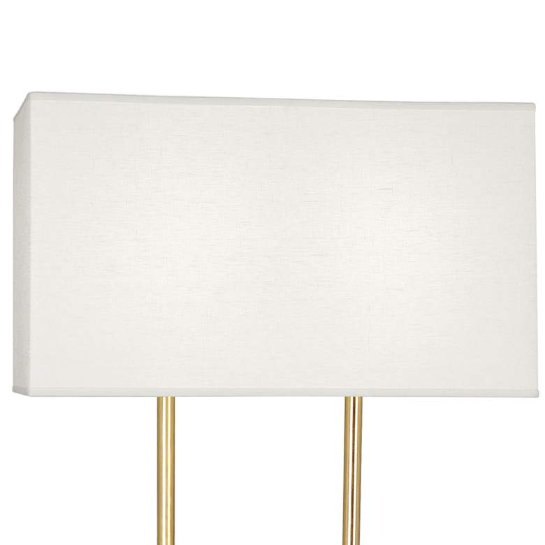 "Martin 60 1/2""H Modern Brass Floor Lamp with Marble Table more views"