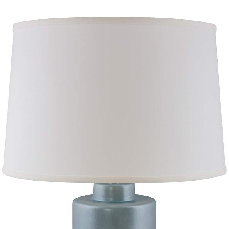 RiverCeramic® Cylinder Smoke Blue Pearl Table Lamp more views