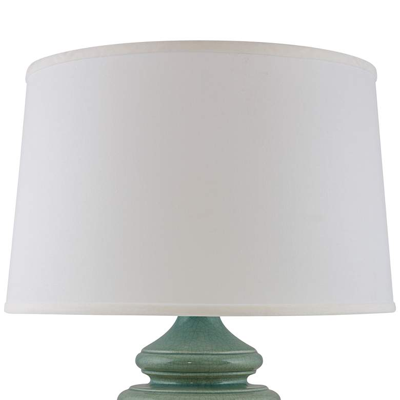 RiverCeramic® Cottage Ocean Spray Crackle Table Lamp more views