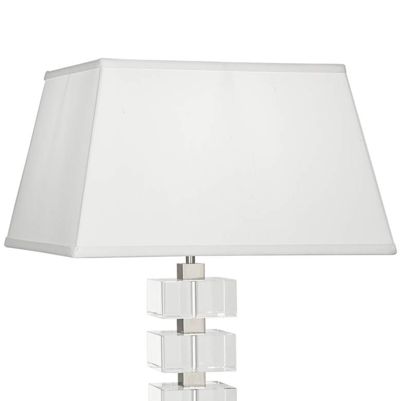 Jonathan Adler Monaco Nickel and Clear Crystal Table Lamp more views
