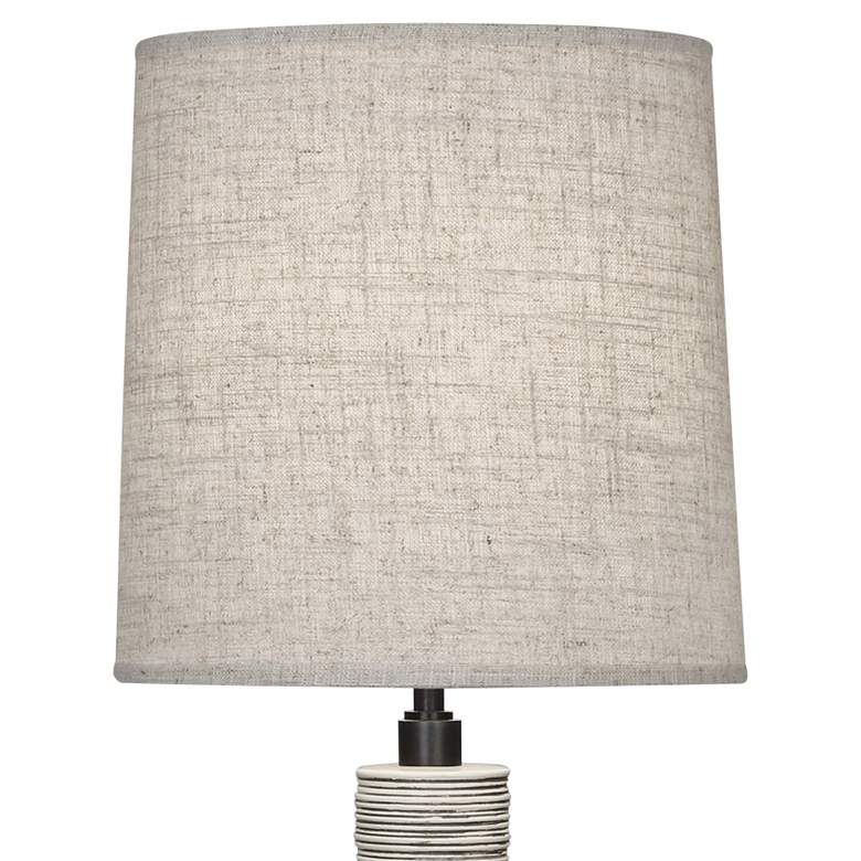 Berkley Walnut Wood Buffet Table Lamp w/ Bisque Linen Shade more views