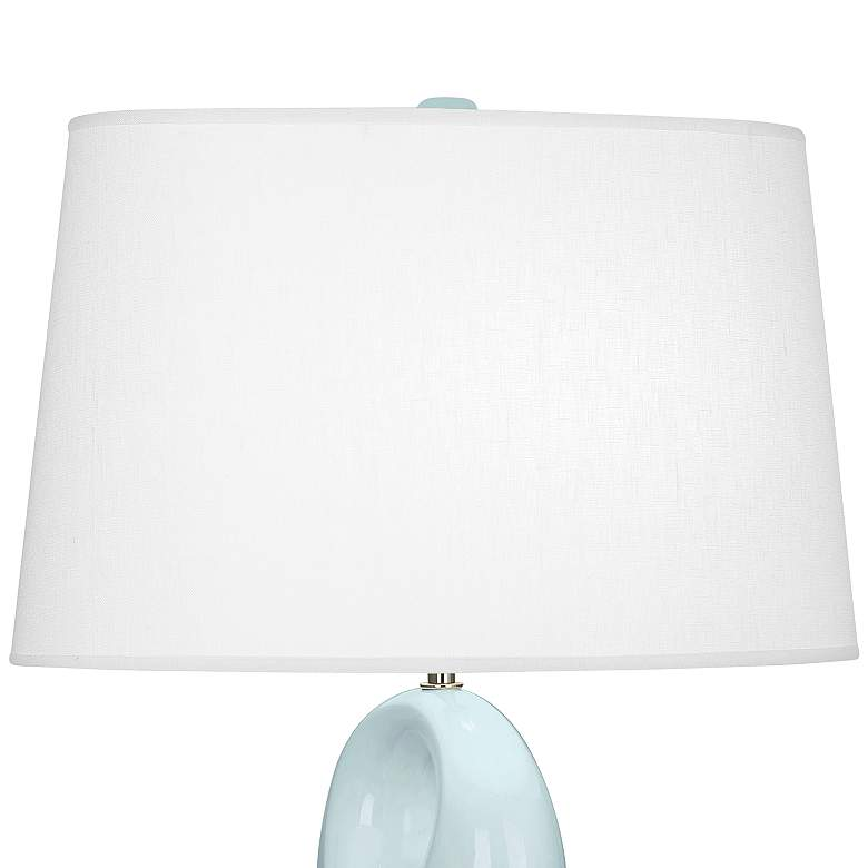 Robert Abbey Fusion Baby Blue Ceramic Table Lamp more views