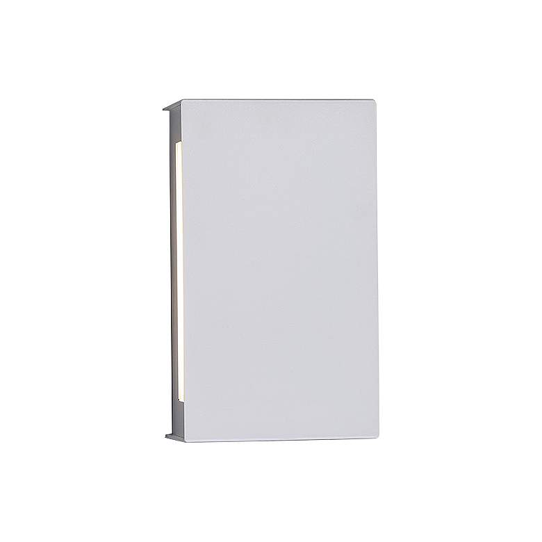 "Blok 7""H White LED Wall Sconce w/ Emergency Backup Battery more views"