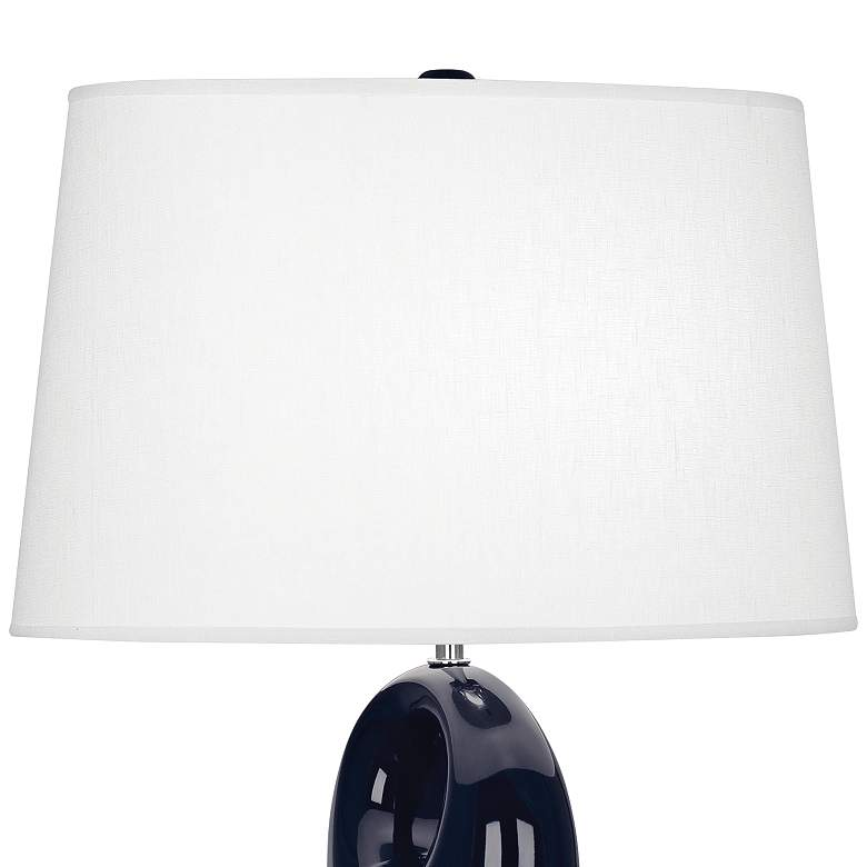 Robert Abbey Fusion Midnight Blue Ceramic Table Lamp more views