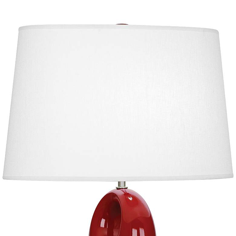 Robert Abbey Fusion Oxblood Red Ceramic Table Lamp more views