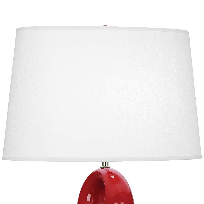 Robert Abbey Fusion Ruby Red Ceramic Table Lamp more views