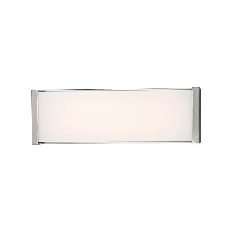 "dweLED Float 18"" High Brushed Nickel LED Wall Sconce more views"