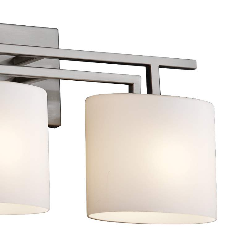 "Fusion Aero 36 1/2"" Wide Brushed Nickel 4-Light Bath Light more views"
